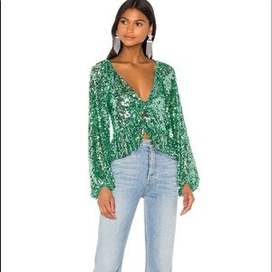 For love and lemons Madeline sequin top